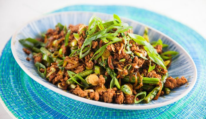Cambodian Snake Beans & Pork Curry