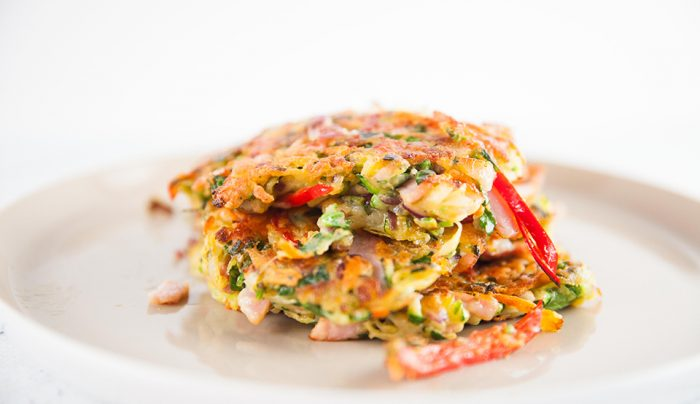Bacon, Onion & Herb Fritters