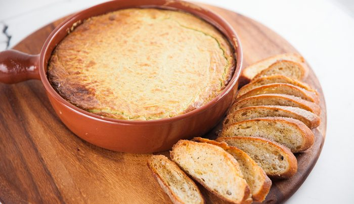 Baked Goat Cheese Dip with Homemade Crostini