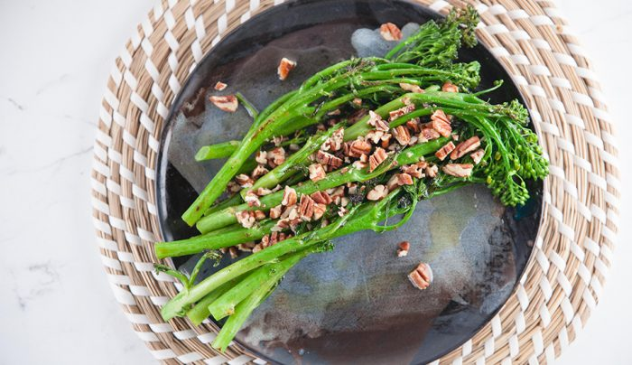 Broccolini in Miso & Burnt Butter Sauce