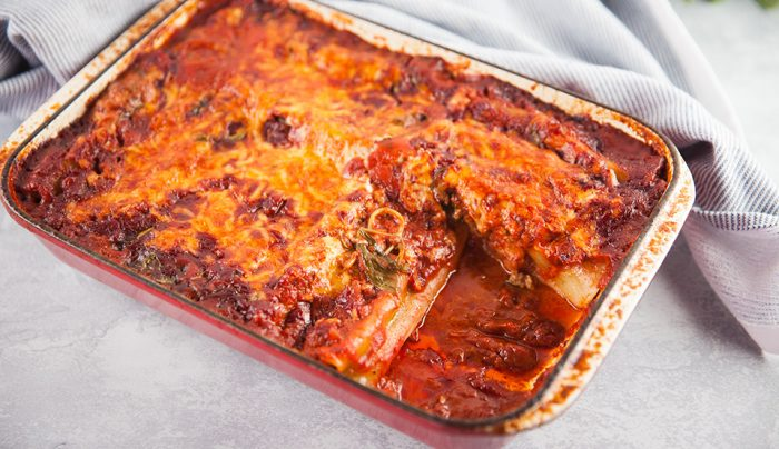 Lamb, Spinach & Cottage Cheese Cannelloni